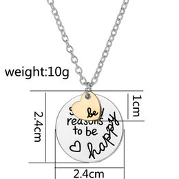 Double initial pendant necklace canada best selling double initial 2016 initial double so many reason to be happy heart be pendant nekclace for women mother gift best friend necklaces fashion jewelry 161574 mozeypictures Images