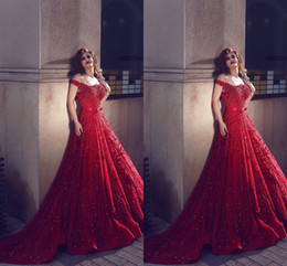 $enCountryForm.capitalKeyWord Canada - Modest Off Shoulder Said Mhamad Luxury Prom Dresses Long Scoop Beaded Stones Sequins Backless 2K17 Women Evening Gowns with Sweep Train