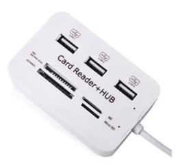Hub combo online shopping - High Quality Micro USB Hub Combo Ports Card Reader High Speed Multi USB Splitter Hub USB Combo All In One for PC Computer DHL