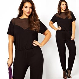 32c095482b5c Wholesale-Plus Size Women Jumpsuits and Rompers XXXL 4XL Playsuit Female  Big Size Clothing 5XL 6XL Sexy Overalls Transparent Mesh Elegant