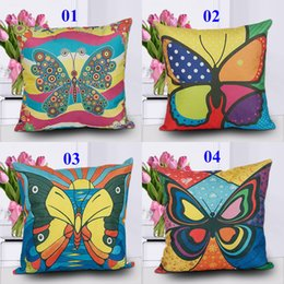 $enCountryForm.capitalKeyWord Canada - Plant Butterfly Pattern Pillow covers Butterfly Design Pillow Covers Butterfly Pillowcase Home Decor Throw Pillowcas Butterfly Cushion Cover