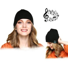 Hands free speakers online shopping - Bluetooth Hat Winter Cap Wireless Bluetooth Headphone Headset Earphone soft warm with stereo speaker hands free Cradle