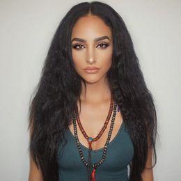 Human Hair Kinky Canada - Italian Kinky Straight Glueless Full Lace Human Hair Wigs For Black Women Brazilian Hair Italian Kinky Straigh Lace Front Human Hair Wigs