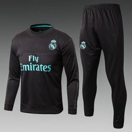 Chinese  Best quality 17 18 Real Madrid Soccer Tracksuit Jacket Suit 2017 2018 Ronaldo Jogging Football Tops Coat Pants Adults Training Tracksuit manufacturers