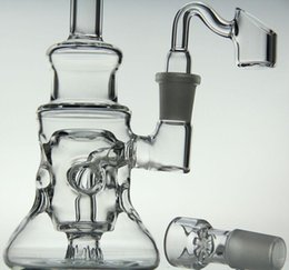 """$enCountryForm.capitalKeyWord NZ - Bong! Clear Elvis Klein Two function glass bongs oil rig 8"""" inches with Quartz nail banger tobacco screen bowl Faberge Egg"""