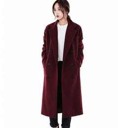 3d5b824ac3de Winte new wool coat women  s long loose double breasted plus thick cashmere  coat large size female