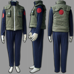 cosplay naruto characters UK - Cartoon Character Costumes COS Popular Japanese Anime Deluxe Naruto Costume Hatake Kakashi Men's Naruto Cosplay Costume Free Shipping