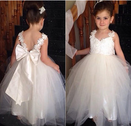 $enCountryForm.capitalKeyWord Australia - Real Photo Infant Baby Toddler Pageant Clothes O-neck Lace Flower Girl Dresses For First Communion Dress Special Occasion Wear