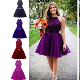 Discount sale chiffon short cocktail dresses - Hot Sale Short Evening Party Dresses For Sweet 16 Jewel Neck Backless Beaded 2016 Real Photo Cocktail Occasion Wears Hom