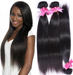 $enCountryForm.capitalKeyWord Canada - 8A Indian Human Hair Straight Hair Weave 100% Without Chemical Processed Natural Color Bundles 2pcs lot 8-30inch in Stock
