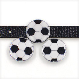 $enCountryForm.capitalKeyWord UK - Wholesale football soccer zinc alloy 10mm slider Charms DIY Accessories Fit 10mm Pet Collar wristband SL497