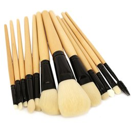 Violet wood online shopping - Professional Makeup Brush Set High Quality Makeup Tools Kit Violet Beige Portable Cosmetic Make Up Brush Wood Handle