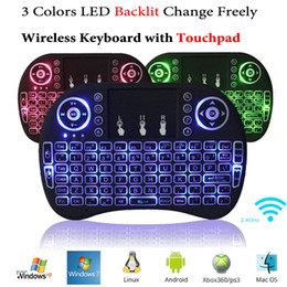 M8s S812 Tv Box NZ - Rii i8+ Mini Wireless Backlit Keyboard Mouse Multi-touch Backlight for MXQ Pro M8S Plus T95 S905 S812 Smart TV Android TV Box PC