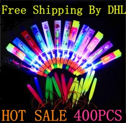 $enCountryForm.capitalKeyWord Canada - Free Shipping By DHL 400Pcs Amazing LED Light Arrow Rocket Helicopter Flying Toy LED Light Flash Toys baby Toys Party Fun Gift