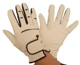 2012 ГОРЯЧЕ! Верховая езда Верховые перчатки для продукта Equestrain Белый с черным СВОБОДНАЯ ПЕРЕВОЗКА ГРУЗА