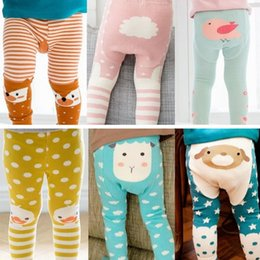 gold tight leggings Australia - Baby Leggings Stripe Fox Boys Girls Elastic Cotton Soft Girls Animal PP Pants Kids Tights 8 Styles Free Shipping