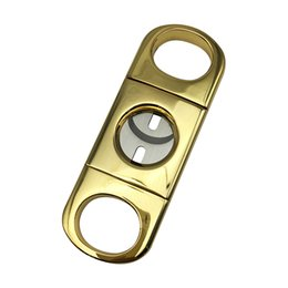 China Hot New Fashion manganese steel durable cohiba small golden tobbaco knife scissors cigar cutter cigar cutter cigar cut packed in black gift suppliers
