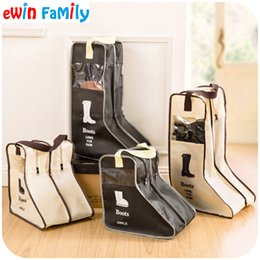 $enCountryForm.capitalKeyWord NZ - Wholesale- Portable Big Shoes Storage Bags Hanging Closet Cabin Shoe Cover Boots Organizer Sack Storaging Bag With Zipper Boot Protector