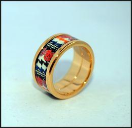$enCountryForm.capitalKeyWord NZ - Rose Series rings 18K gold-plated enamel rings Top quality ring for women brand designer rings for gift