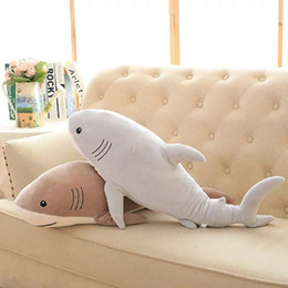 """Super Soft Stuffed Animals Canada - Plush Ocean Cartoon Shark Toys Soft Cute Pillow Super Soft Stuffed Animal Shark Dolls Best Gifts For Kids Friend Baby 21"""""""
