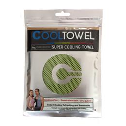 TOMSHOO 30 * 90 cm Microfibra Reutilizable Enfriamiento instantáneo Enfriamiento por frío Deportes de alivio Compacto Toalla para correr Ciclismo Viajes Camping