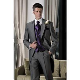 $enCountryForm.capitalKeyWord Canada - Superior quality Custom-tailor Groom Tuxedos Bridegroom Best Man Suits(Jacket+Pants+Vest)men blazer dress wedding suit for mens