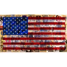 Painting Can Australia - Pure Handpainted Modern Abstract graffiti Art oil painting American Flag,For Home Wall Art Decor High Quality Canvas size can customized