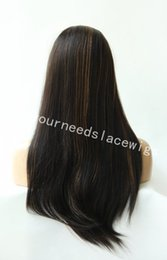 Lighting French Canada - Light Yaki Full Lace Wig Glueless Brazilian Virgin Human Hair Light Yaki Straight Lace Front Wig With Baby Hair Natural Hairline
