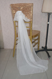 $enCountryForm.capitalKeyWord NZ - 2016 Custom Made Sequined Chiffon Crystals Chair Covers Romantic Beautiful Chair Sashes Cheap Wedding Chair Decorations 022