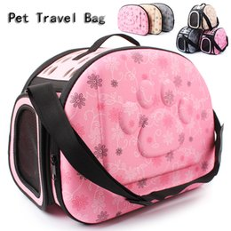Folding Dog Carrier Canada - High Quality Pet Travel Carrier Shoulder Small Dogs and Cats Bag Folding Portable Breathable Outdoor Carrier Pet Bag