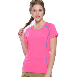 T-shirts En Gros Pas Cher-Vente en gros-Femmes Été Thin Section 6 Séchage min. Min. Rapide Super Stretch T-Shirts transpirables T-shirts Outdoor Sportswear Tee Tops FD104