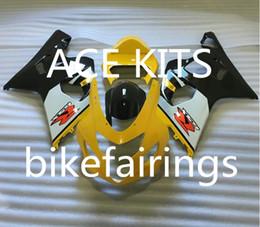 $enCountryForm.capitalKeyWord Australia - New ABS motorcycle Fairing Kits 100% Fit For Suzuki GSXR600 GSXR750 2004 2005 600 750 04 05 K4 bodywork set hot buy Yellow White WQ7
