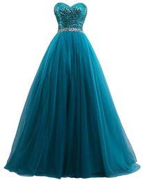 $enCountryForm.capitalKeyWord Canada - Crystal Sequined High Quality Vestido Longo Ball Gown Evening Dresses Sweetheart Tulle Celebrity Party Dresses Vestido De Festa