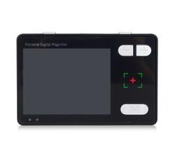 Черный низкий Vison портативный электронная лупа для чтения 3.5-дюймовый ЖК-экран 2X-24X 1.2 мегапикселей четкое видение подарок