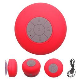 Sucker Mini Speaker Canada - 2018-New BTS-06 Waterproof Bluetooth Mini Speaker with Sucker Portable Wireless Hands-free for Call Water Resistant Music Player