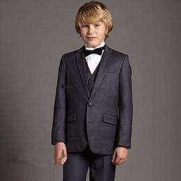 $enCountryForm.capitalKeyWord Canada - Hot Sale 2016 New Kid Suits For Wedding Boys' Attire Tailor Made Suit Gray Boys' Formal Occasion Attire Custom Made Suit Tuxedo(jacket+pants
