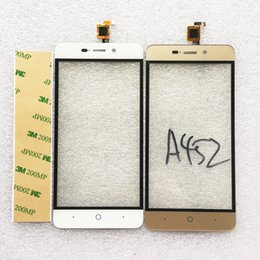 Zte Touch Panels Canada - Wholesale- Black White Gold Touch Screen For ZTE Blade A452 X3 D2 Digitizer Front Glass Panel Sensor Front Glass Lens Replacement