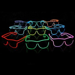 $enCountryForm.capitalKeyWord NZ - LED Glasses El Wire Fashion Neon LED Light Up Shutter Shaped Glow Sun Rave Costume Party DJ Bright SunGlasses