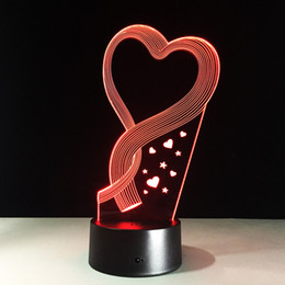$enCountryForm.capitalKeyWord Canada - Hearts Style 3D Optical Illusion Lamp Night Light DC 5V USB 5th Battery Wholesale Dropshipping