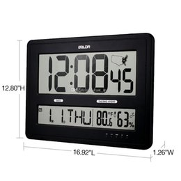 Baldr Jumbo Digital Wall Clocks With Big Time Display Time Zone Map  Calendar Function Temperature And Humidity Display