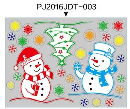 Discount christmas window stickers for shops - Shop Window Wall Stickers for Christmas Decorative Wall Cecal Xmas Home Decoration Window Display Removable Wallpaper fr