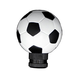 White Lever UK - Football Shape Gear Shift Knob Soccer Ball Style Shifter Knod Lever For Car Truck