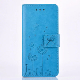 Iphone Plus Wallet Case For Girls Canada - Luxury Dandelion Flower Wallet Leather Pouch Case For Iphone X 8 I8 7 Plus 7PLUS 6 6S SE 5 5S Huawei P9 Stand Card TPU Girl Faery Skin Cover