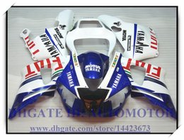 99 yzf r1 blue fairings UK - INJECTION ABS BRAND NEW FAIRING KIT 100% FIT FOR YAMAHA YZFR1 1998 1999 YZF R1 98 99 YZF1000 YZF R1 1998-1999 #CJ885 BLUE WHITE