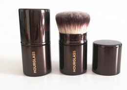 Hourglass Makeup Canada - 10pcs lot-New Arrival! Brand New Cosmetics Hourglass #7 Rounded Finishing Make Up Single Brush Face Blush Powder Complexion Makeup Brushes