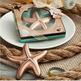 Wholesale Creative Starfish Bottle Opener Beach Theme Wedding Favors Bridal Shower Ideas Party Keepsake Anniversary Gifts ZA4556