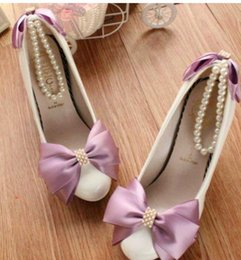 $enCountryForm.capitalKeyWord NZ - Colorful butterfly pearl chain spring women shoe shoes show blue green purple bridesmaid dress collocation optional