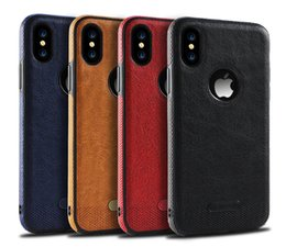 Discount leather stitch iphone case - For iphone X iphone8 7 plus Leather case Samsung Galaxy S8 plus S7 S7 edge S6 stitching TPU Protection Cell phone Cases