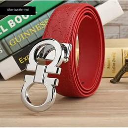Blue Sashes Belts Canada - Fashion letter buckles Designer men's sash The new women's belts are wholesale