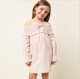 Barato Vestidos De Bebês Adolescentes-New 2016 Teenager Striped Shirt Vestidos Junior Fashion Cotton Dress Big Babies Autumn Christmas Clothing Roupa infantil